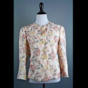 Armani Collezioni Floral Burnout Lined Blazer
